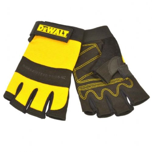 Dewalt DPG23L Padded Synthetic Leather Palm Fingerless Gloves Large